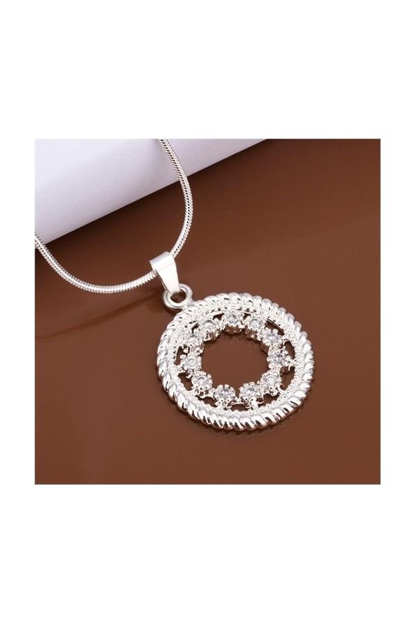 Byzinci Women's Silver Necklace