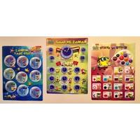 Sünger Bob 3büyük Boy Eğitim Posteri Çarpım Tablosu Saatler ve Zaman Şekiller ve Renkler 3'lü