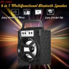 Shopfocus MS-134BT Kablosuz Bluetooth Hoparlör Multimedya Mobil (Yurt Dışından)