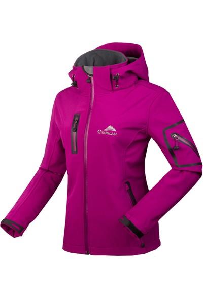 Cikrilan Kadın's Outdoor Kapşonlu Ceket Kaban (Yurt Dışından)