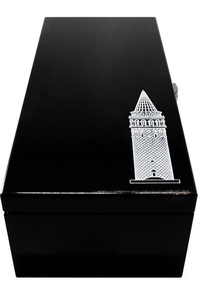 Kamet Galata Kulesi Metal Biblo Özel Seri - Antik Gümüş