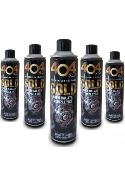 404 Gold Fren Balata Temizleme Spreyi ( Özel Seri ) 500 ml x 5'li