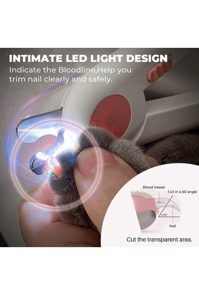Foyou Kedi Köpek Tırnak Makası ve LED Işıklı Düzeltici/tırnak (Yurt Dışından)