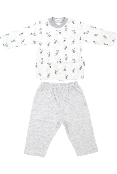Sebi Bebe Bisikletli Bebek Pijama Takımı 2325