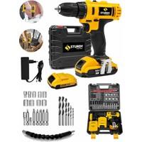 Sturdy Power Tools 42 V 5 A Darbeli Professional 27 PARÇA SETLİ Şarjlı Vidalama Matkap