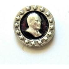 Ata Tanıtım 925 Ayar Gerçek Gümüş Kaplama Küçük ve Zarif Kasalı Atatürk Rozeti 19GR