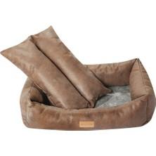 Kuzey Life Premium Ser.-Deri Görünümlü -Star Kedi Köpek Yatagi (M)