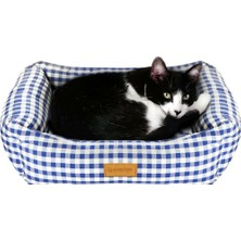 Kuzey Life Pati Serisi – Star - Mavi Kedi Köpek Yatagi (S)
