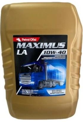 Petrol Ofisi Maxımus LA 10W-40 17,5 kg Motor Yağı ( Üretim Yılı :2021 )