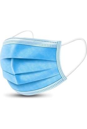 Medical Cottomask 3 Katlı Full Ultrasonic Meltblown Maske Telli - 50Lİ Kutu - Mavi
