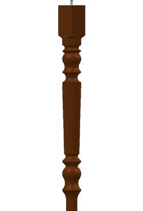 Türkmen Ahşap Cnc Ahşap Mobilya Ayak 75 cm x 7 cm Açık Kahverengi