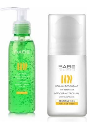 Babe Terleme Karşıtı Roll-On Deodorant 50 Ml + Aloe Veralı Yağsız Rahatlatıcı Bakım Jeli 90 Ml