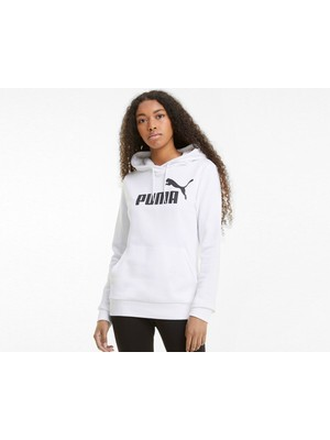 Puma Ess Logo Hoodie Tr Kadın Günlük Sweatshirts 58679102 Beyaz