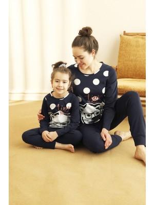 Siyah İnci Pamuklu Likralı Pijama Takım 21263216