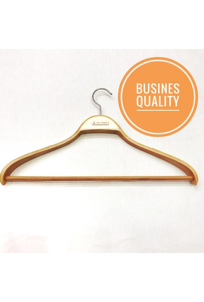 Işık Ahşap Business Elbise Askısı Geniş Omuz ( 3 Adet )