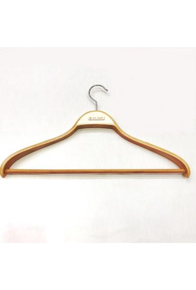 Işık Ahşap Business Elbise Askısı Geniş Omuz ( 6 Adet )