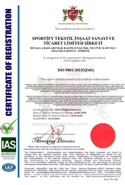 Medical Cottomask Yeni Nesil Full Ultrasonic 50 Li Kutu Meltblown - Mavi