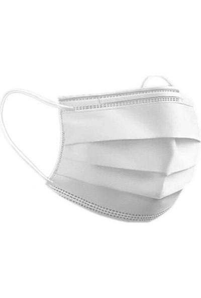 Medical Cottomask 3 Katlı Full Ultrasonic Meltblown Maske Telli - 50Lİ Kutu - Beyaz