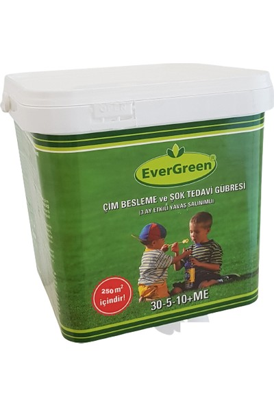 Evergreen - Çim Besleme ve Şok Tedavi Gübresi 5 kg