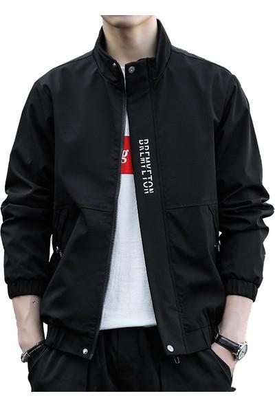 Qualife Rahat Yakışıklı Bahar Ceket Giyim Erkekler-Siyah (Yurt Dışından)