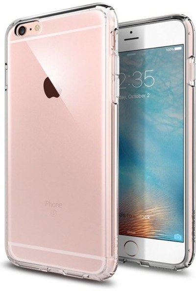 Mopal iPhone 6 Plus / 6s Plus Tıpalı Şeffaf Silikon Kılıf