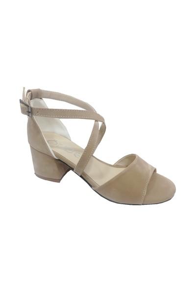 Önder Deri Kalın Topuklu Kadın Sandalet