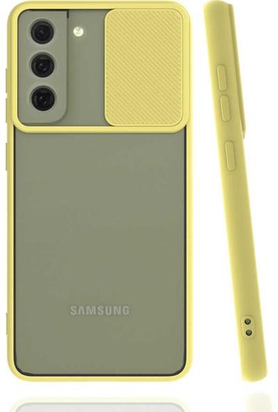 CoverZone Galaxy S21 Fe Kılıf Darbe Koruyucu Kamera Korumalı Smooth Window Sarı