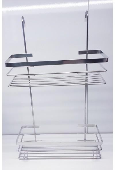 Monza Duşakabin Askılı Banyo Rafı 304 Paslanmaz Mat