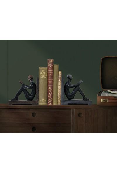 Trend Avm Kitap Tutucu Kitap Okuyan Adam Figürlü Biblo