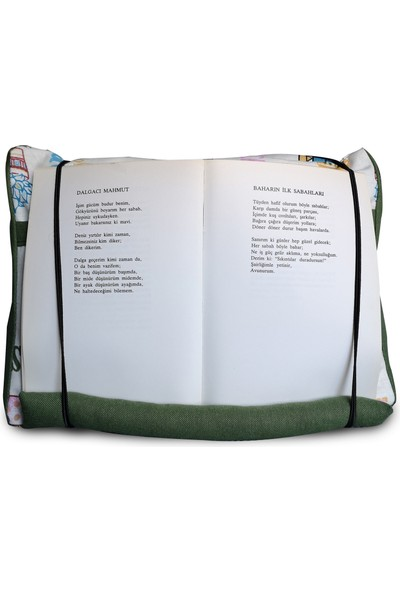 Yedi Kedi Kaktüs Cepli Kitap Tablet Yastığı