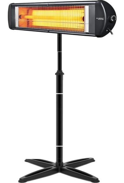 Luxell Kumtel Luxell Blackline Elektrikli Soba Isıtıcı 2500W Ayak Dahil