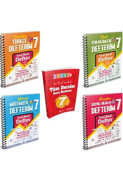 Arı Yayınları 7. Sınıf Yeni Nesil Akıllı Defter Seti ( Matematik -Türkçe -Fen -Sosyal ) +4 Adım Tüm Dersler Soru Bankası