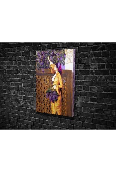 Tablo 360 Osman Hamdi- Leylak Toplayan Kız Kanvas Tablo