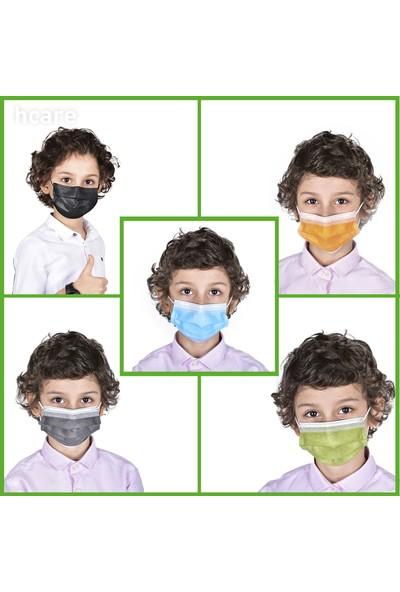 Hcare Type Iır Rengarenk Çocuk Medikal Maske 50'li