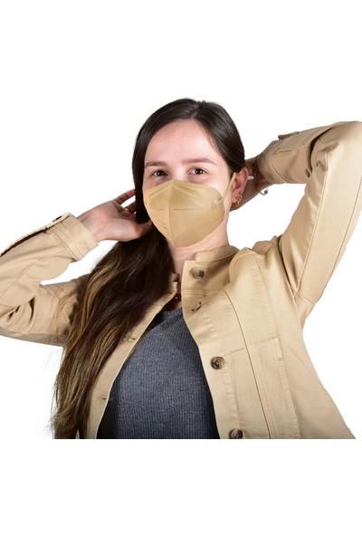 Hcare Ffp2 (N95) Bej Renkli Maske 10'lu