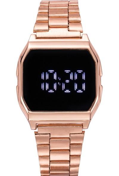 Black Point Dokunmatik Çelik Kasa Kadın Kol Saati LED Ekran