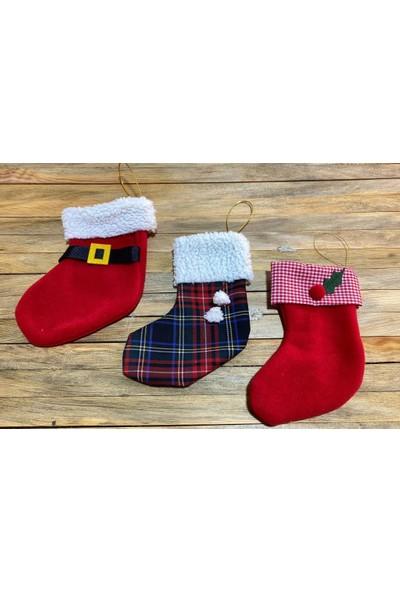 Beysüs Yılbaşı Çorabı Çam Ağacı ve Şömine Çorabı 3'lü