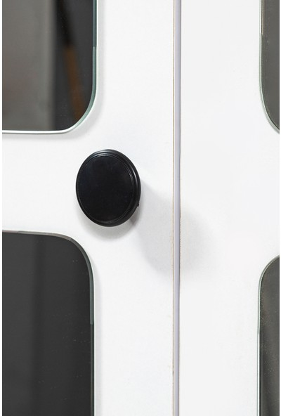 Albero Mobilya Albero Hilal 4 Kapılı 4 Aynalı Dolap - Gardırop