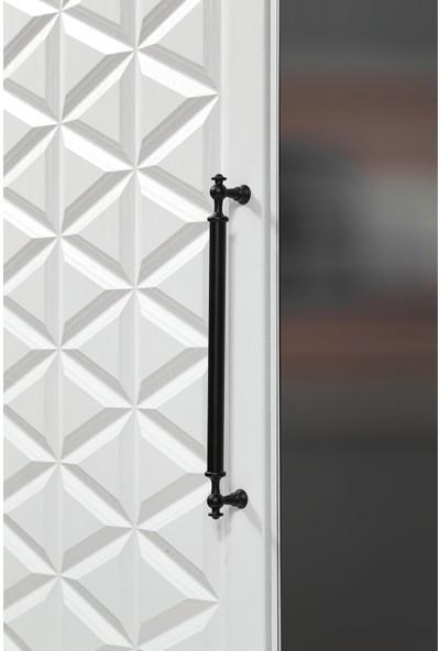 Albero Mobilya Albero Yıldız 4 Kapılı Aynalı Çekmeceli -Dolap Gardırop