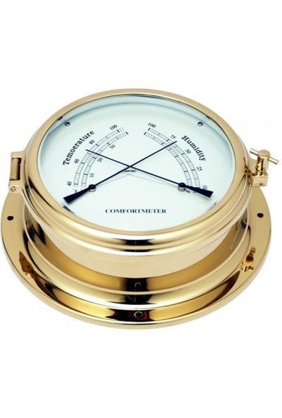 DM Marin Termometre ve Hygrometre Pirinç Görünümlü 105X150MM H:60MM