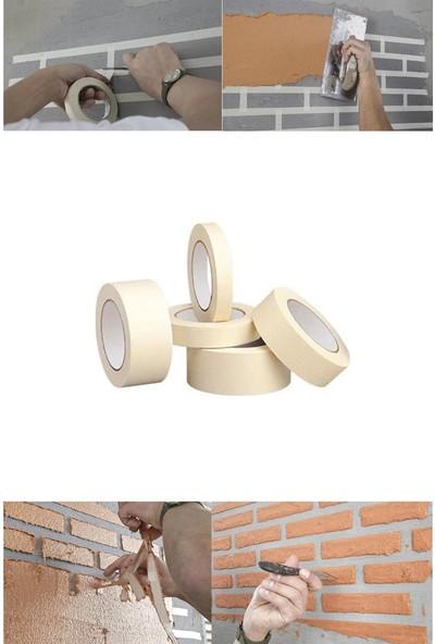 Belsa Home Belsa 2'li Maskeleme Bandı Kağıt Bant Boya Bandı 24 mm x 25 Metre
