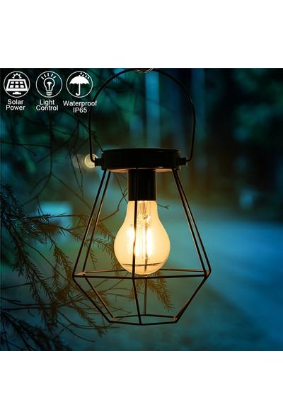 Xyanling Açık LED Güneş Fenerler Lambalar Masa Masa Filament Edison Ampuller Veranda Arka Bahçe Avlu Çim Peyzaj Dekor Için Dekoratif Asılı Işıklar - 1 Adet