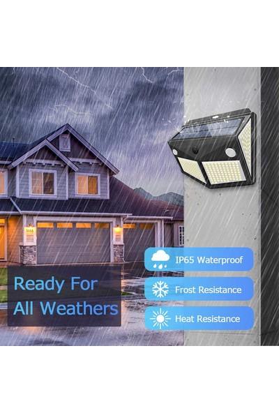 Xyanling Bahçe Güneş Enerjili Güvenlik Duvar Lambası Dış Mekan 260/40LED Pır Hareket Sensörü Lambaları Su Geçirmez