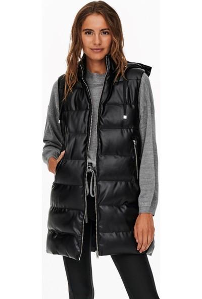 Only Faux Leather Waıstcoat Cs Otw 15240946