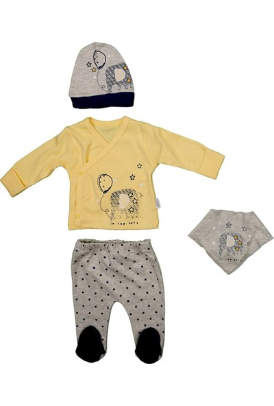 Sebi 1040 Sarı Filli Erkek Bebek 4'lü Hastane Çıkışı
