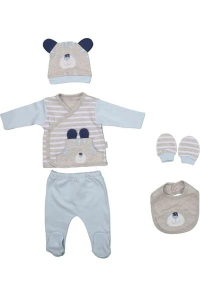 Sebi 1043 Mavi Erkek Bebek Kaplan 5'li Hastane Çıkışı