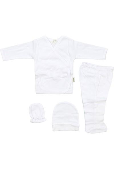 Sebi 5710 Beyaz Bebek Düz Renk 4'lü Hastane Çıkışı