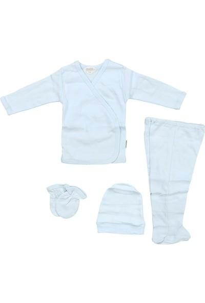 Sebi 5710 Mavi Bebek Düz Renk 4'lü Hastane Çıkışı