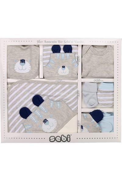 Sebi 9175 Mavi Erkek Bebek Kaplan 10'lu Hastane Çıkışı