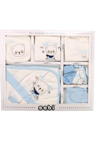 Sebi 9176 Mavi Erkek Bebek Pandalı 10'lu Hastane Çıkışı